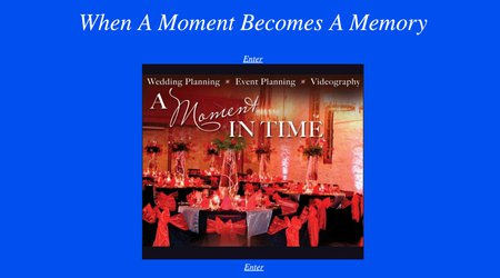 A Moment In Time Wedding Planners and Videography