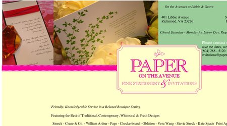 Paper on the Avenue