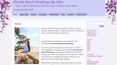 Florida Beach Weddings by Jules