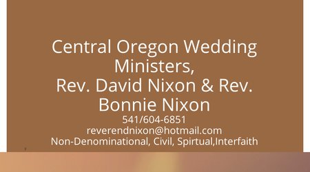 Oregon Wedding Ministers