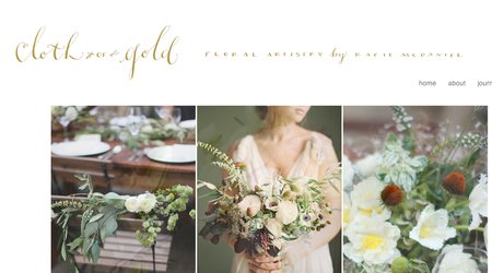 Cloth of Gold Floral Design by Katie McDaniel