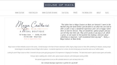 Maya Couture on Main: A Bridal Boutique