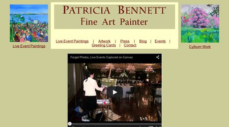 Patricia Bennett, Live Event Painter