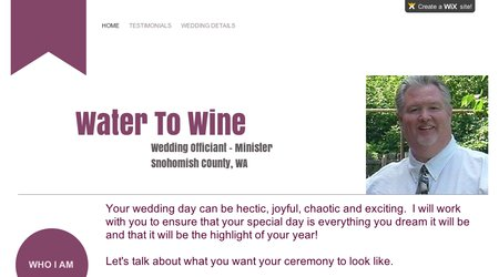 Water To Wine Officiant