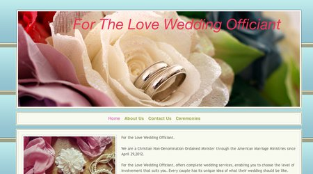 For the Love Wedding Officiant