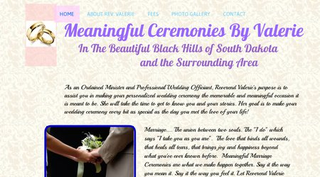 Meaningful Ceremonies by Valerie