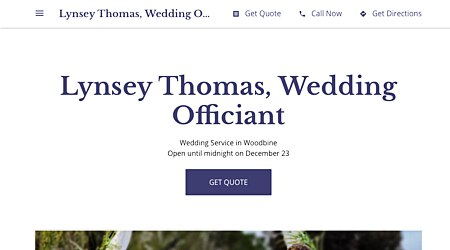 Lynsey Thomas, Wedding Officiant