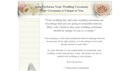Julia Performs Your Wedding Ceremony